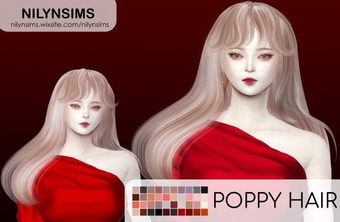 POPPY HAIR at Nilyn Sims 4 image 1878 670x438 Sims 4 Updates