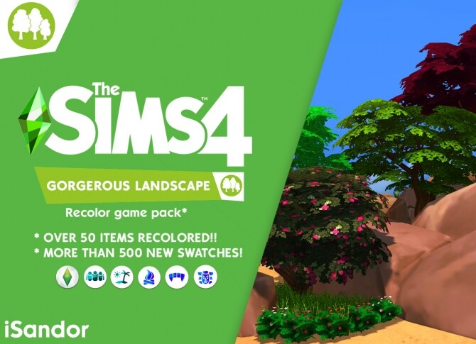 Sims 4 Gorgerous landscape Recolor pack by iSandor at Mod The Sims