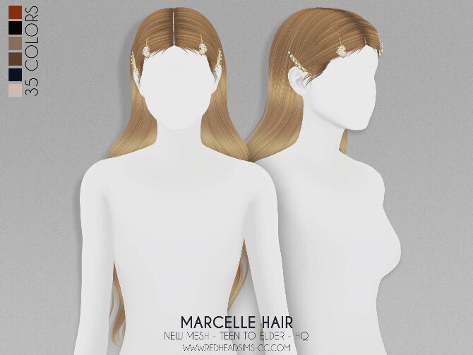 MARCELLE HAIR + KIDS AND TODDLER VERSION at REDHEADSIMS image 1902 670x503 Sims 4 Updates