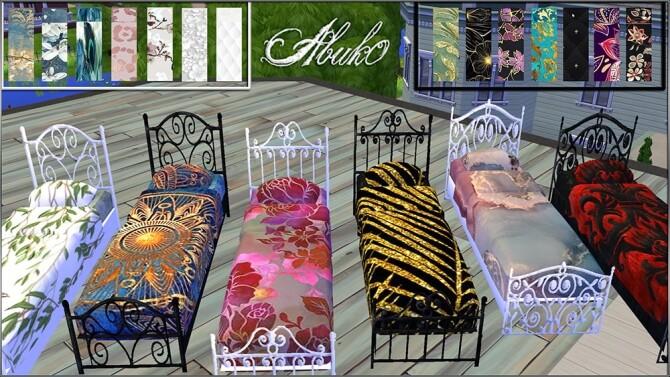Sims 4 Camas wrought iron beds at Abuk0 Sims4
