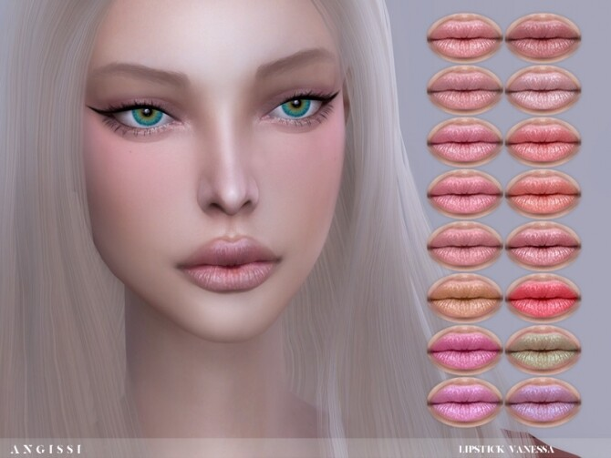 Sims 4 Vanessa lipstick by ANGISSI at TSR