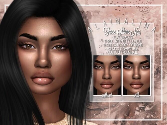 Face Shine No5 at AlainaLina image 19114 670x503 Sims 4 Updates