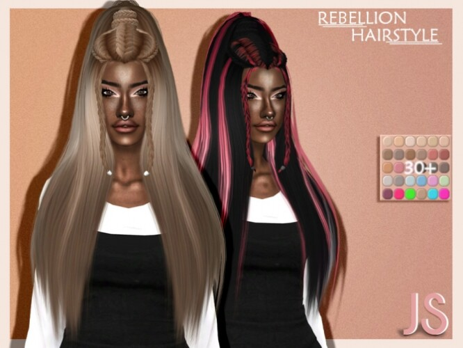 Rebellion Hairstyle by JavaSims
