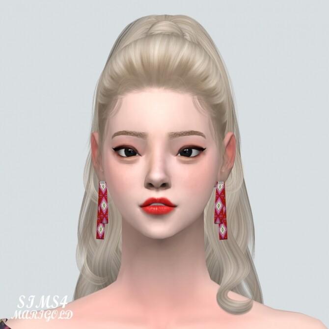 Sims 4 123 Ribbon Earring V2 at Marigold