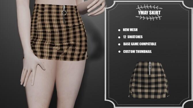Sims 4 Ymay Skirt at Clarity Sims