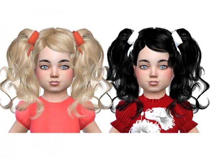 Sims 4 Hair and hair bow at Trudie55