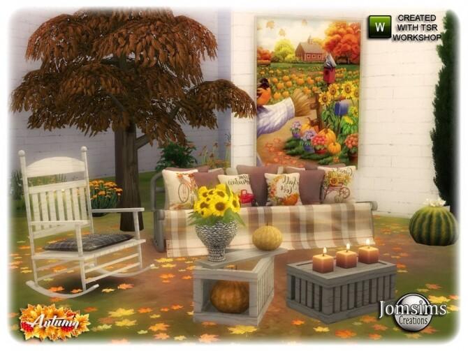 Sims 4 Abby Autumn garden by jomsims at TSR