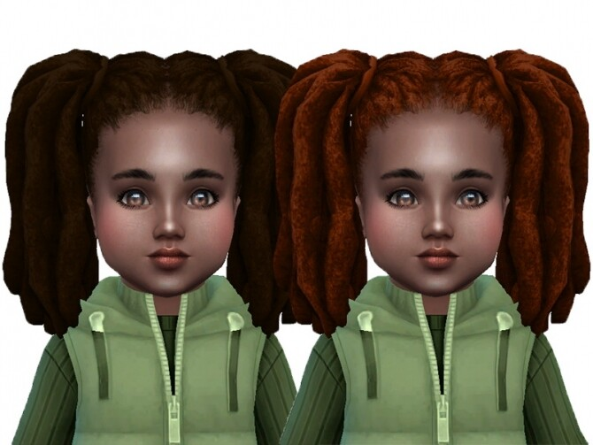 Sims 4 Pigtails dreads modified at Trudie55