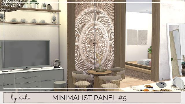 Minimalista Panel #5, 6 & 7 at Dinha Gamer image 2041 Sims 4 Updates