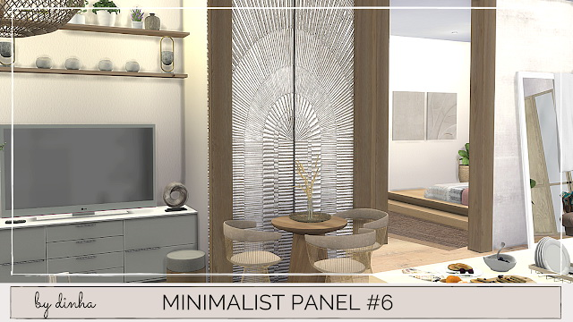 Minimalista Panel #5, 6 & 7 at Dinha Gamer image 2051 Sims 4 Updates
