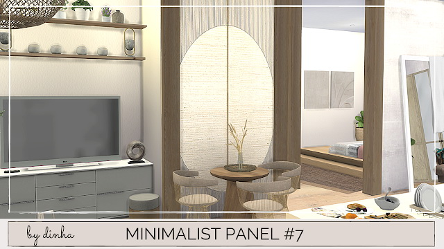 Minimalista Panel #5, 6 & 7 at Dinha Gamer image 2061 Sims 4 Updates
