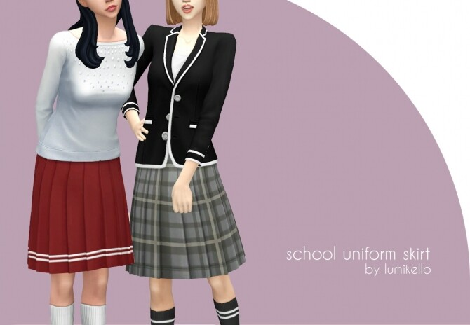 School Uniform Skirt by Lumikello