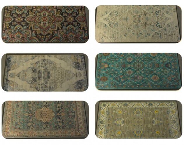 Rug with oriental and vintage patterns by therran