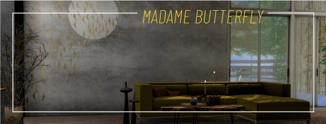 Madame Butterfly wall murals