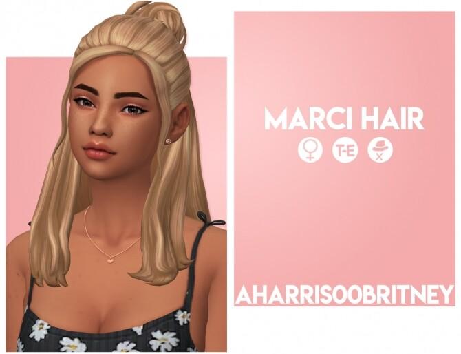 Sims 4 Marci Hair at AHarris00Britney