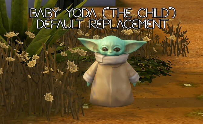 Sims 4 Baby Yoda Override by soaplagoon at Mod The Sims