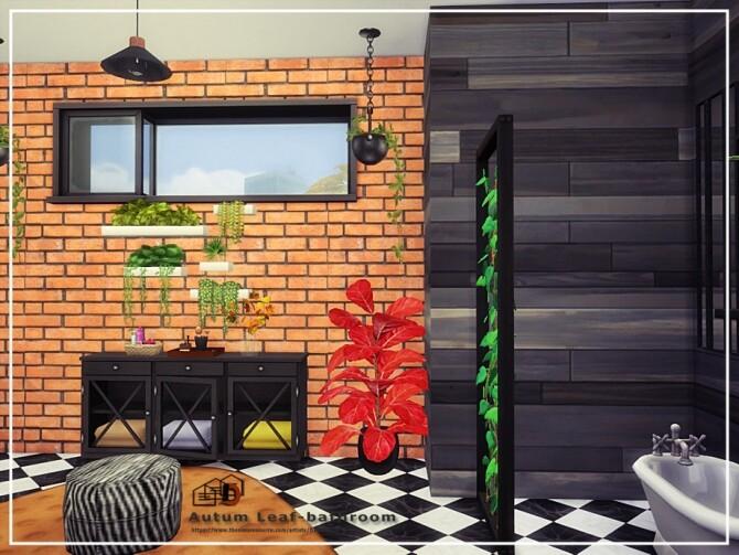 Sims 4 Autum Leaf bathroom by Danuta720 at TSR