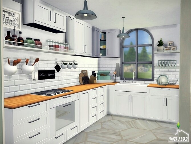 Bright Kitchen by nobody1392 at TSR image 2127 670x503 Sims 4 Updates