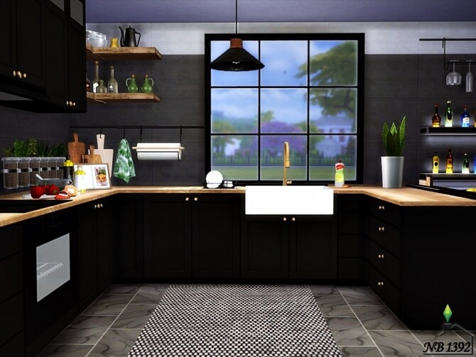 Sims 4 Kitchen Aron by nobody1392 at TSR