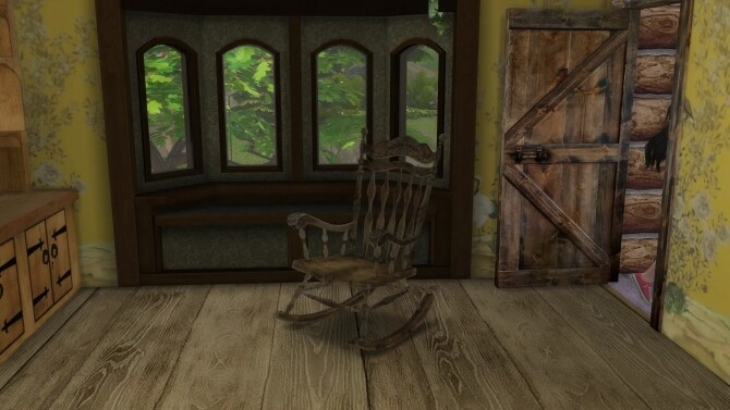 Sims 4 Functional rocking chair by Alikis Nook at Sims 4 Studio