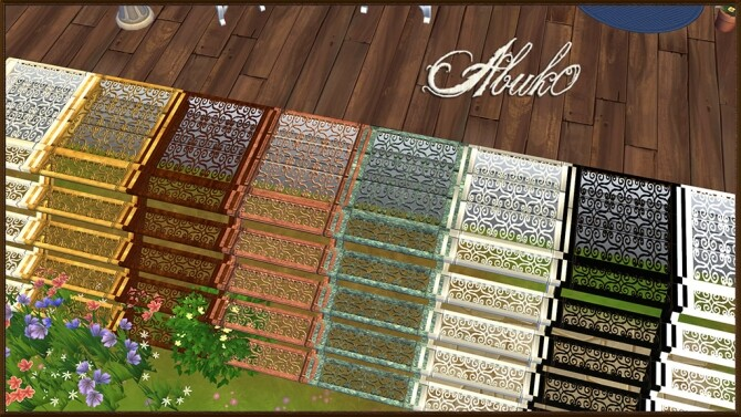 Sims 4 Patikal wrought iron stairs at Abuk0 Sims4