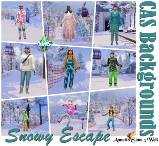 Snowy Escape CAS Backgrounds