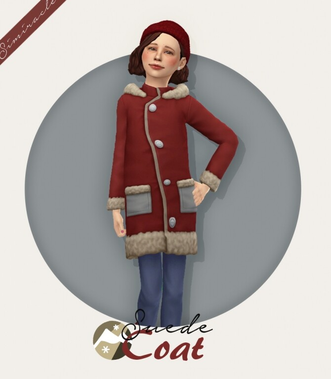 Sims 4 Suede Coat Kids Version at Simiracle