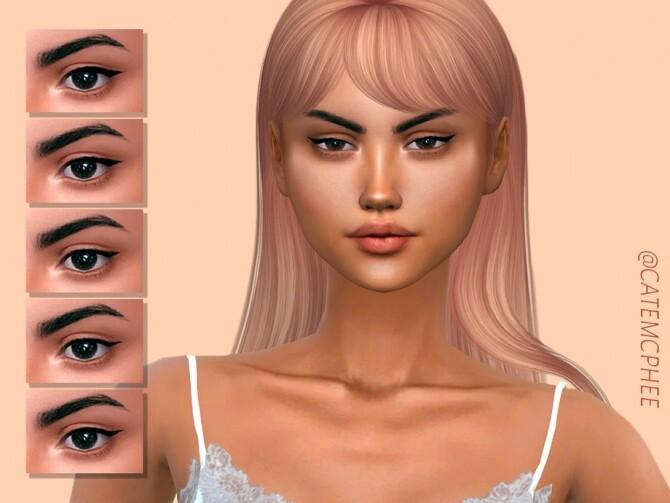 Sims 4 EL 05 Maxie Eyeliner Variations by catemcphee at TSR
