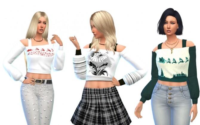 Sims 4 University Top Recolors at Louisa Creations4Sims