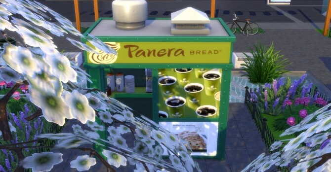 Panera Bread coffee and pastry stand by ArLi1211 at Mod The Sims image 2282 670x349 Sims 4 Updates