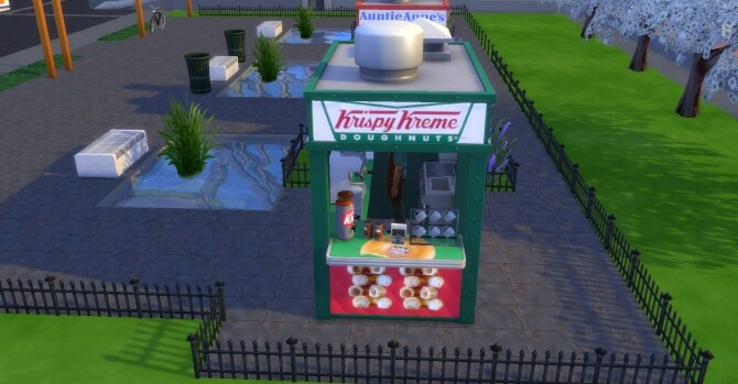 Krispy Kreme coffee and pastry stand by ArLi1211 at Mod The Sims image 2302 670x349 Sims 4 Updates