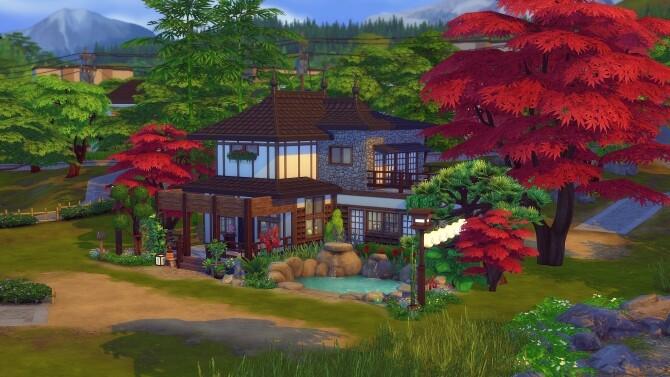 Sims 4 Lotus house at Studio Sims Creation