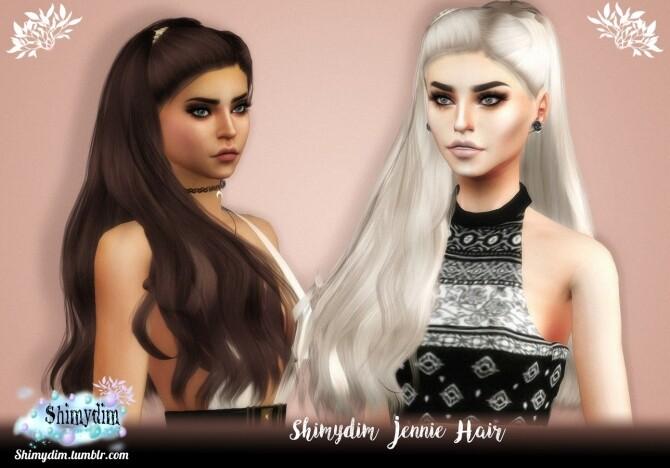 Sims 4 Jennie Hair Naturals + Unnaturals at Shimydim Sims