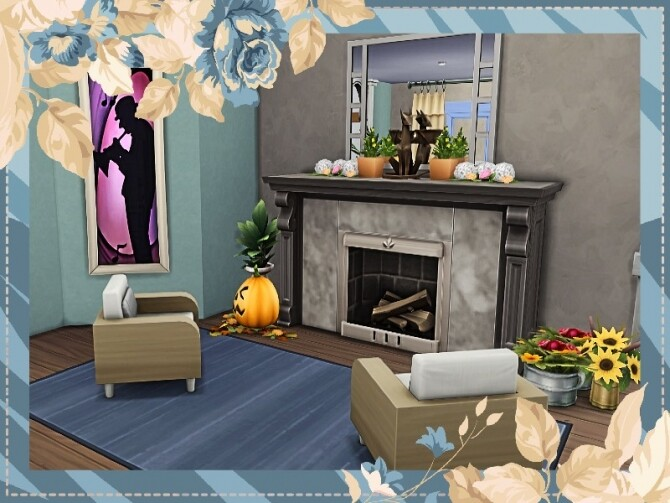 Sims 4 Americana Seasons Home by GenkaiHaretsu at TSR