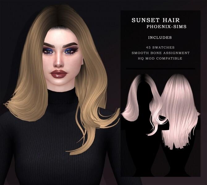 Sims 4 6 hairs at Phoenix Sims