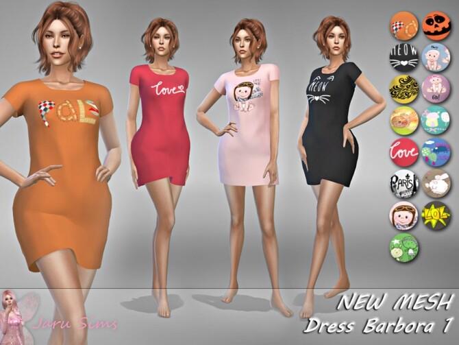 Sims 4 Dress Barbora 1 by Jaru Sims at TSR