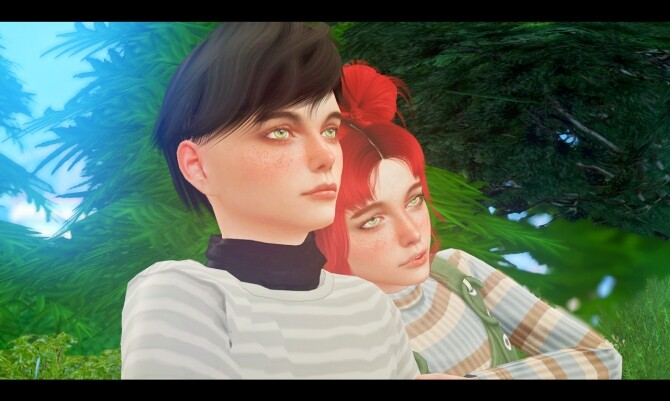 Sims 4 Little friends poses at Rethdis love