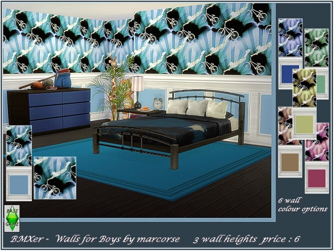 BMXer walls for Boys by marcorse at TSR image 2349 670x503 Sims 4 Updates