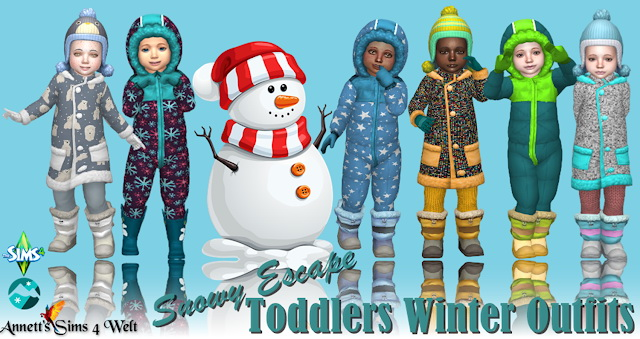 Snowy Escape Toddlers Winter Outfit