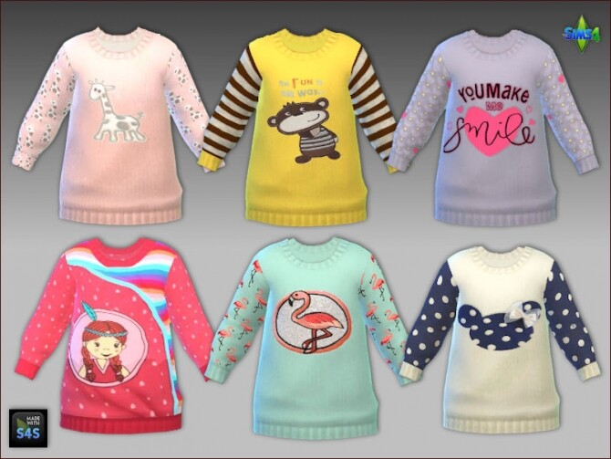 Sims 4 Outfit for toddler girls by Mabra at Arte Della Vita