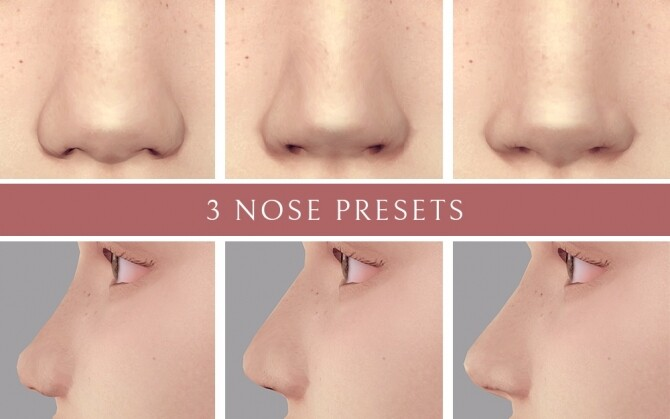 3 Nose Presets at Lutessa image 2366 670x419 Sims 4 Updates