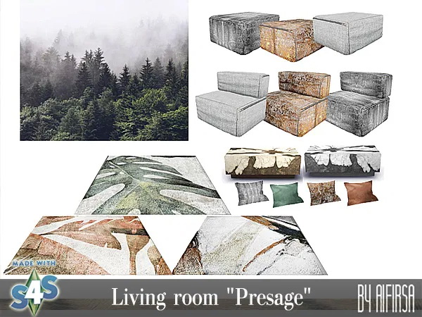 Sims 4 Presage living room at Aifirsa