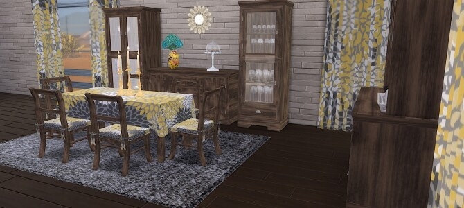 Sims 4 Emile Dining Room at LIZZY SIMS