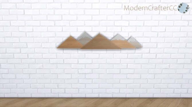 Sims 4 The Alpinist Wall Decor at Modern Crafter CC