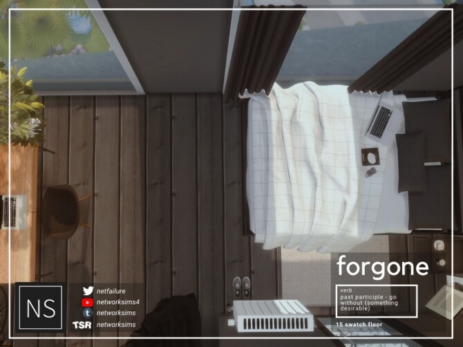 Sims 4 Forgone Wooden Flooring by networksims at TSR