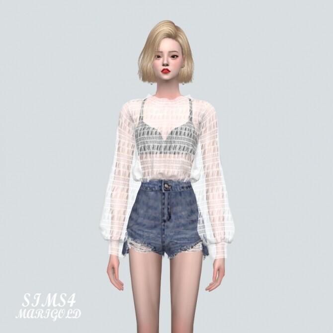 Sims 4 GG See Through Blouse at Marigold