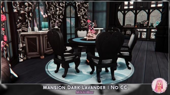 Sims 4 Mansion Dark Lavander at MikkiMur