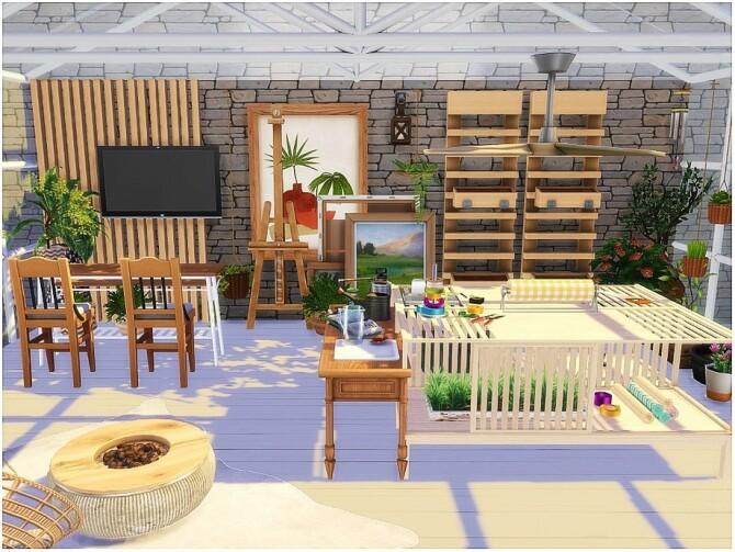 Sims 4 Winter Garden by lotsbymanal at TSR