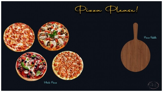 Sims 4 Pizza Please Set at Sunkissedlilacs