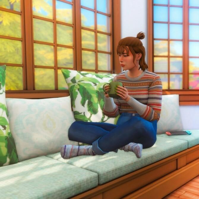 Sims 4 Window Seat Pose Pack at Katverse